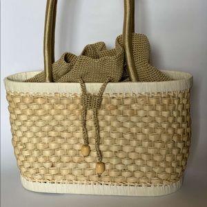 The SAK Rattan Basket Woven Straw Picnic Bag